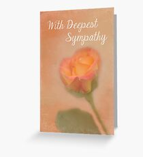 Rose Whispers - With Deepest Sympathy Greeting Card