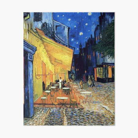 Vincent van Gogh - The Cafe Terrace on the Place de Forum in Arles at Nigh Art Board Print