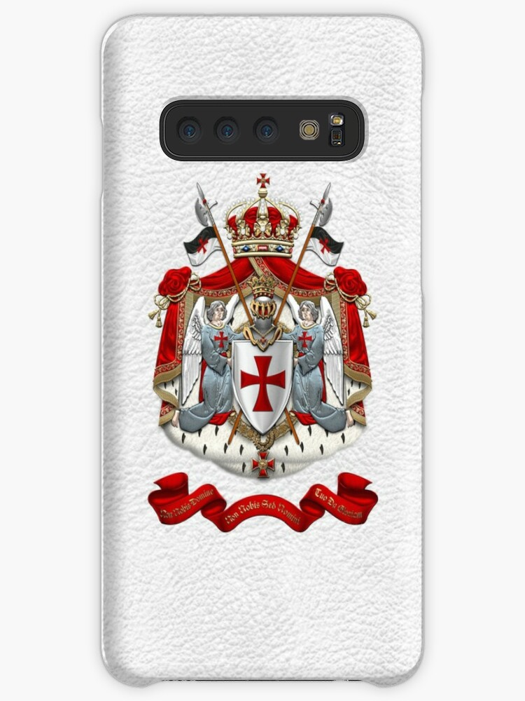 e7d6c554 Knights Templar - Coat of Arms over White Leather