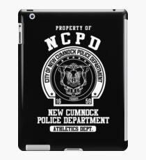 NCPD Athletic Department White Text iPad Case/Skin