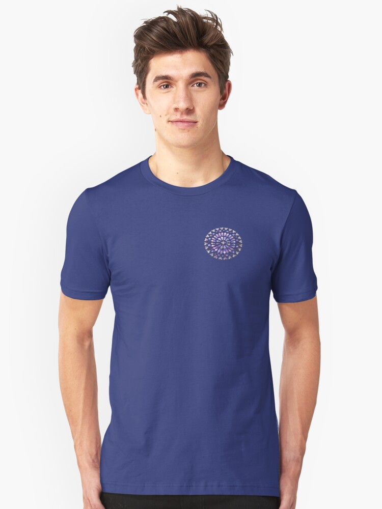 round stained glass Unisex T-Shirt Front