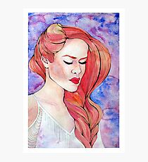 Red Haired Beauty Photographic Print