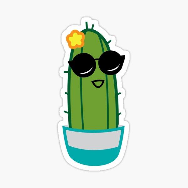 Flirty Cactus Sticker