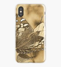 American Painted Lady Sumi-e iPhone Case