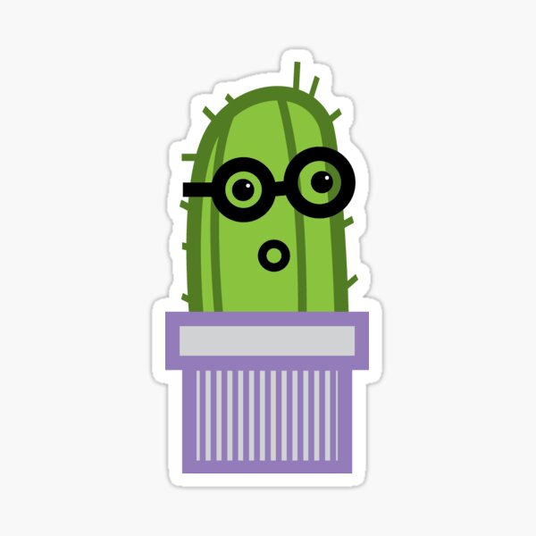 Silly Cactus Sticker