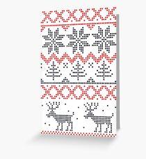 Nordisches Weihnachtsmuster Grußkarte