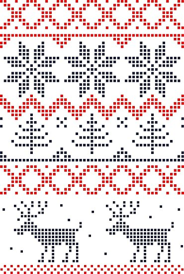 Nordic Christmas Pattern by Anastasiia Kucherenko