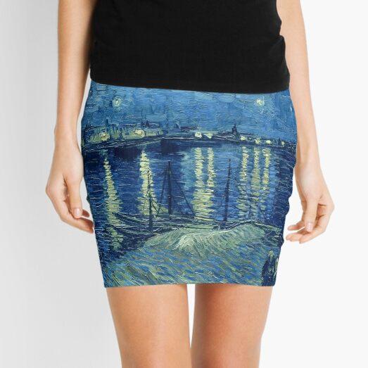 Vincent van Gogh - Starry Night over the Rhone Mini Skirt