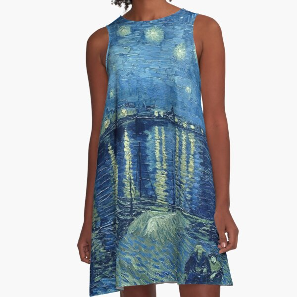 Vincent van Gogh - Starry Night over the Rhone A-Line Dress