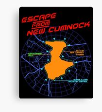Escape From New Cumnock Title Map Canvas Print