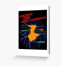Escape From New Cumnock Title Map Greeting Card