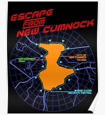 Escape From New Cumnock Title Map Poster