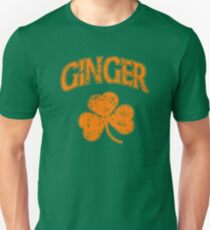 Irish Ginger Shamrock St Pattys Day T-Shirt