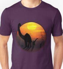 Sauropod Dinosaurs at Sunset T-Shirt