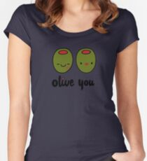Olive You  Women's Fitted Scoop T-Shirt