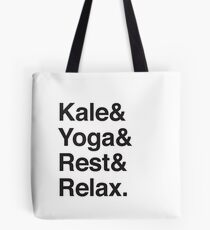 Kale & Yoga & Rest & Relax Tote Bag