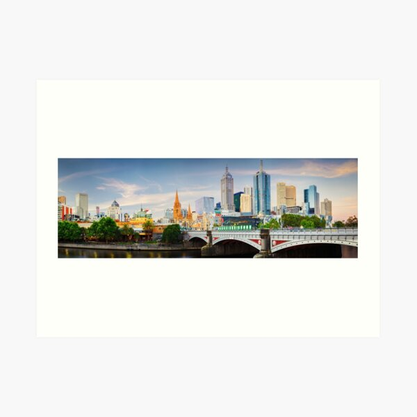 Princes Bridge, Melbourne, Victoria, Australia Art Print