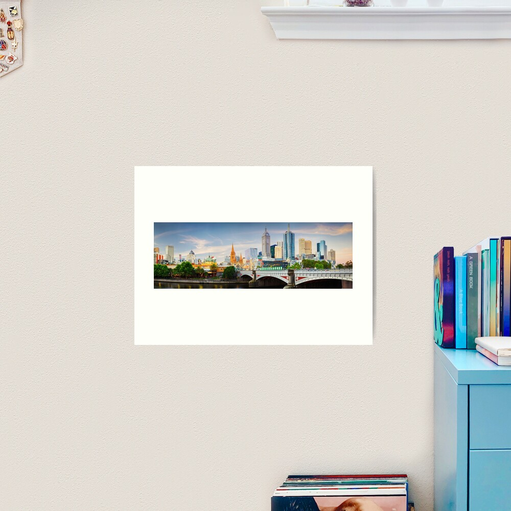 Princes Bridge, Melbourne, Victoria, Australia Art Print
