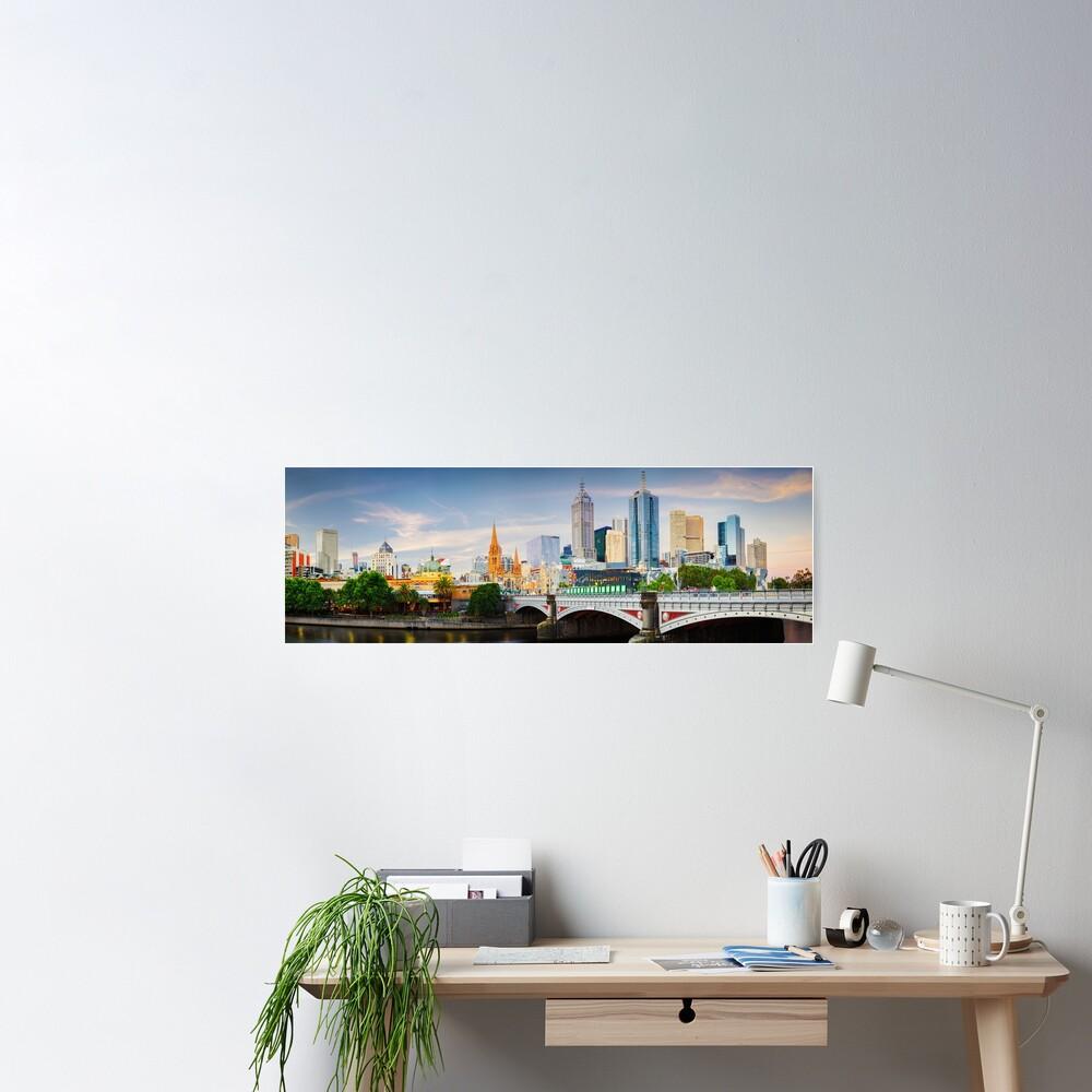 Princes Bridge, Melbourne, Victoria, Australia Poster
