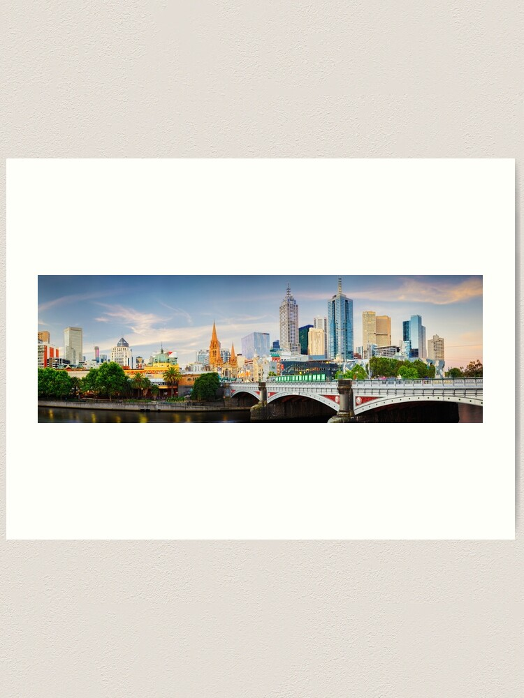 Alternate view of Princes Bridge, Melbourne, Victoria, Australia Art Print