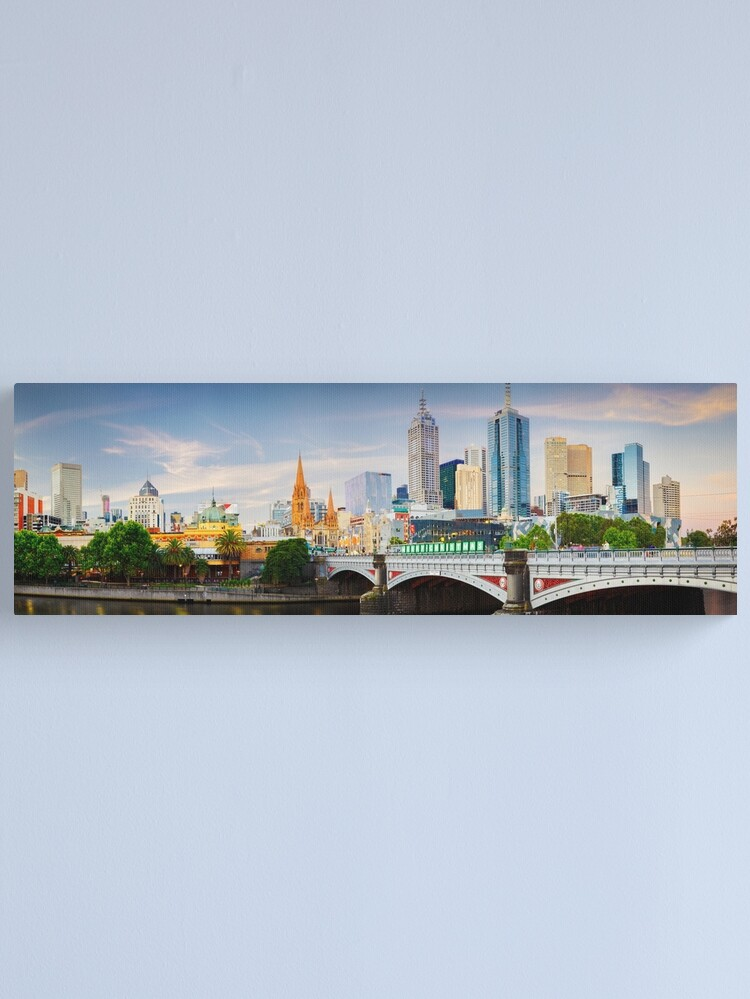Alternate view of Princes Bridge, Melbourne, Victoria, Australia Canvas Print