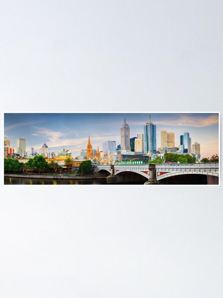Alternate view of Princes Bridge, Melbourne, Victoria, Australia Poster