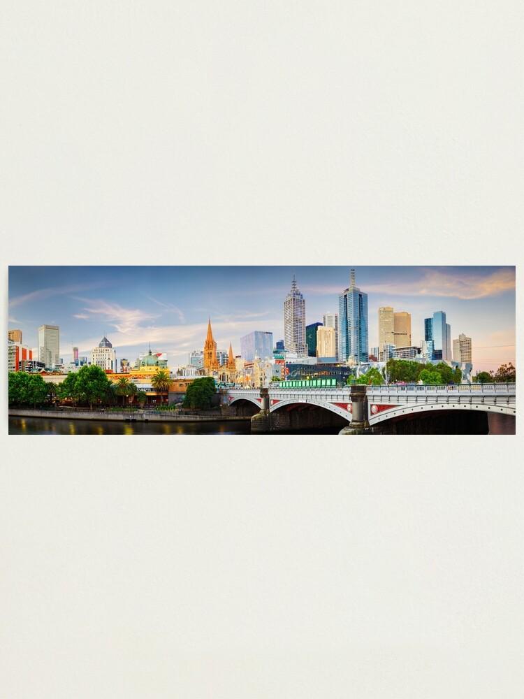 Alternate view of Princes Bridge, Melbourne, Victoria, Australia Photographic Print