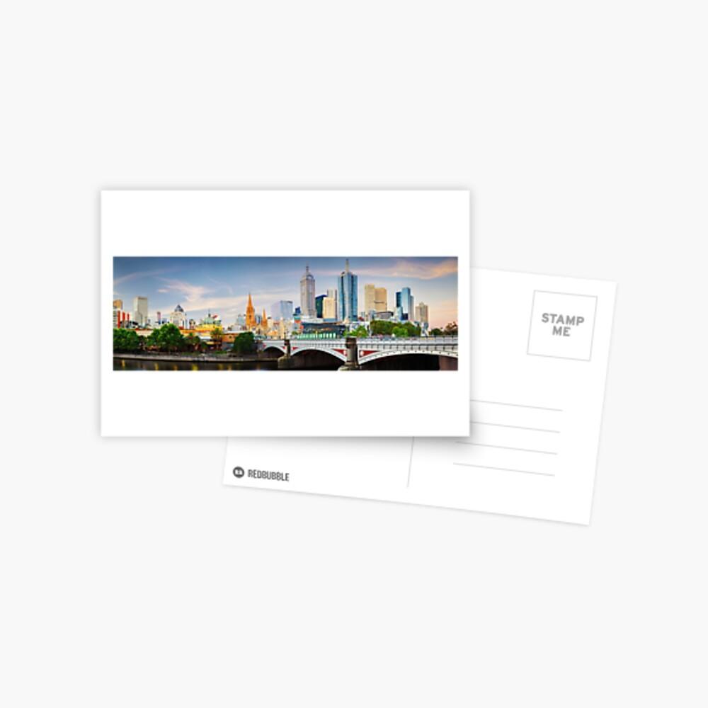 Princes Bridge, Melbourne, Victoria, Australia Postcard