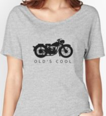 Old's Cool - Vintage Motorcycle Silhouette (Black) Women's Relaxed Fit T-Shirt