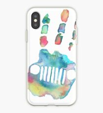 watercolor jeep wave iPhone Case
