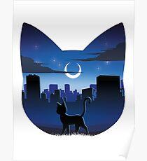 Luna Silhouette Poster