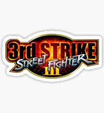 Third Strike Street Fighter III Title  Sticker
