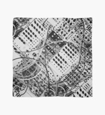 analog synthesizer  - diagonal black and white illustration Scarf