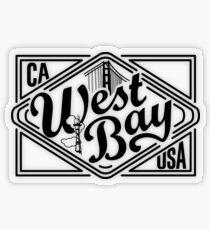 West Bay Transparent Sticker