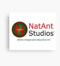 NatAnt Studios' NA Logo and slogan Canvas Print