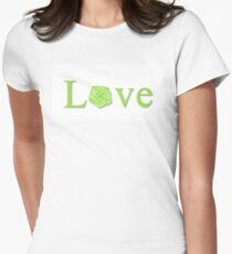 Love Flower Green Womens Fitted T-Shirt