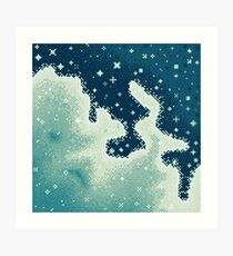 Snowdrift Nebula (8bit) Art Print