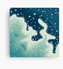 Snowdrift Nebula (8bit) Canvas Print