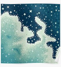 Snowdrift Nebula (8bit) Poster