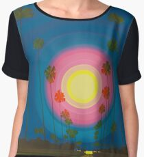 As Summer Wanes in the West on Ave. E. Women's Chiffon Top