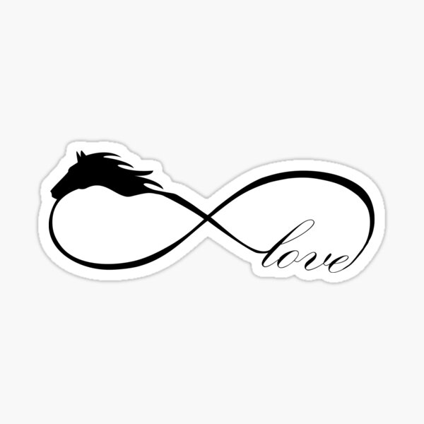 Horse Love Infinite Love Infinity Symbol Sticker