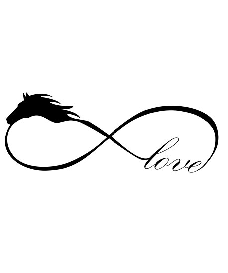 Horse Love Infinite Love Infinity Symbol Photographic Prints By