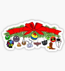Pixar Christmas Bough Sticker