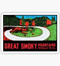 Great Smoky Mountains National Park Vintage Travel Decal 3 Sticker