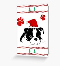 Boston Terrier Dog Christmas Shirts and gift 2016 Greeting Card