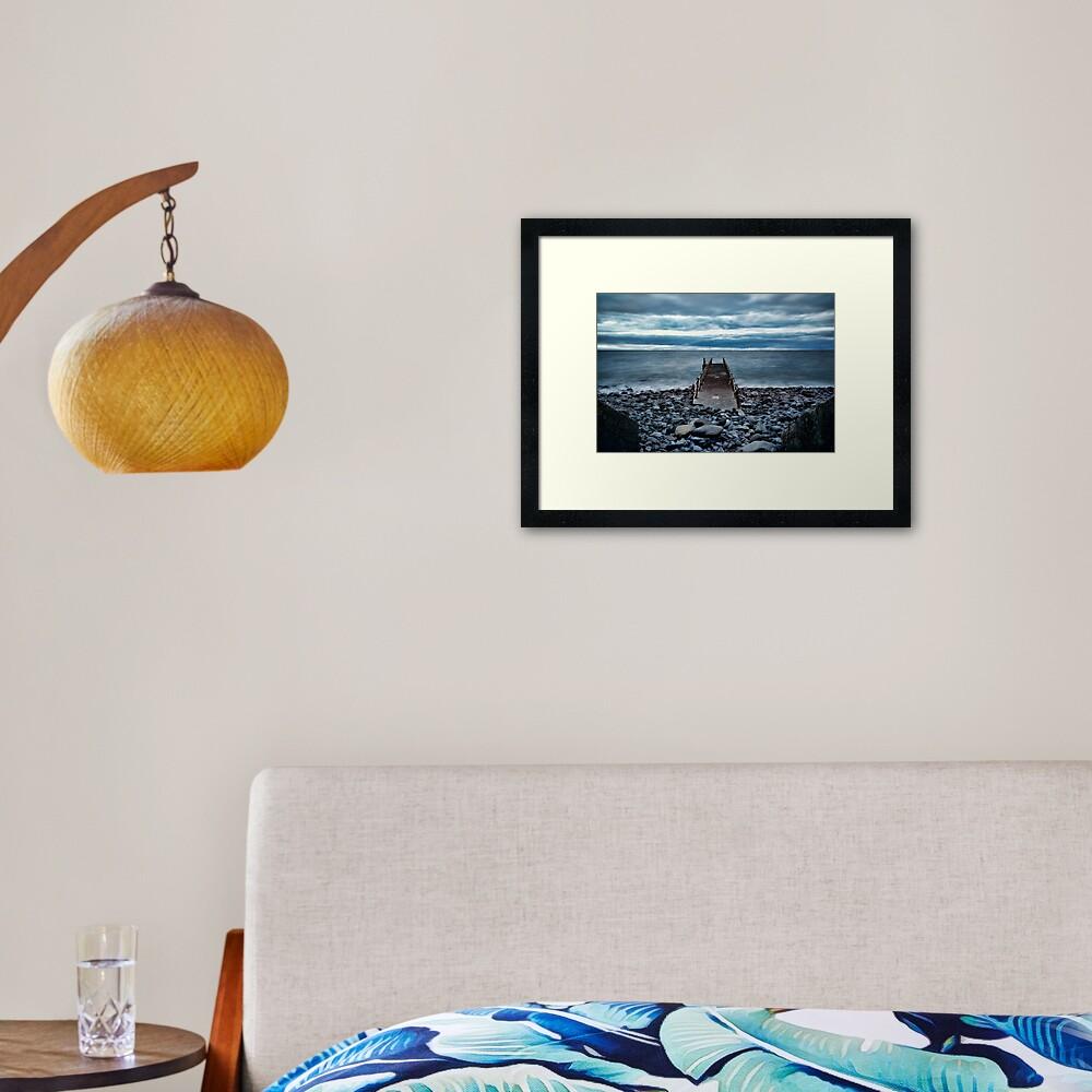 Canico Pier, Santa Cruz, Madeira Islands Framed Art Print