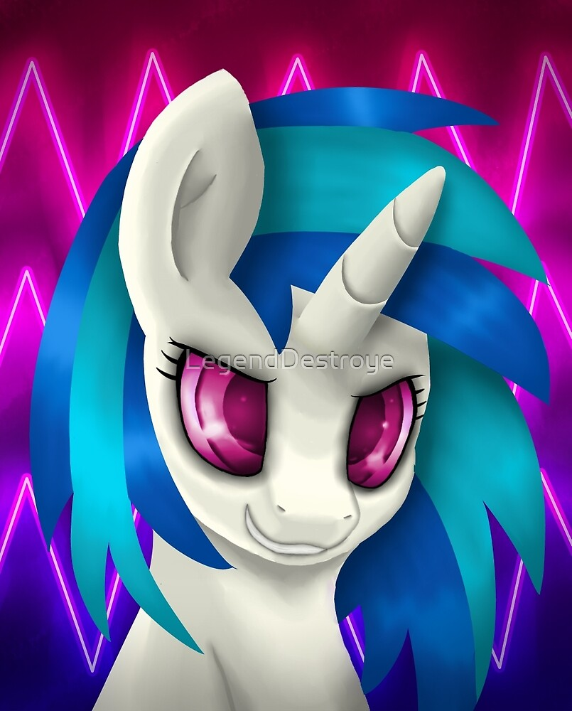 Vinyl Scratch Portrait (Without Glasses) by LegendDestroye