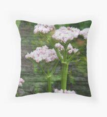 Valarian Blossoms Throw Pillow