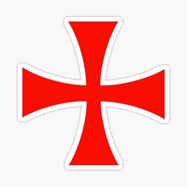 Símbolo de la Cruz Templaria Pegatina