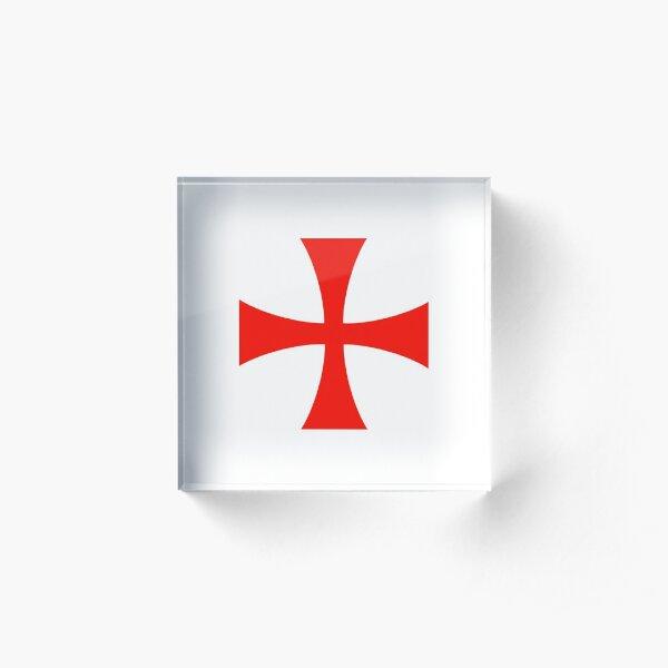 Templar Cross Symbol Acrylic Block